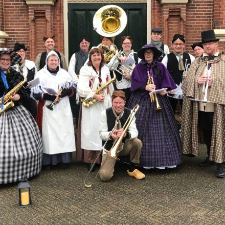 Kerstoptreden Centrum Winschoten 23-12-2017